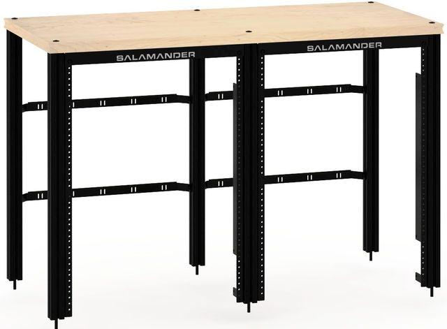 Salamander Designs® Synergy Twin 30 Extension Rack Mount-Natural Maple/Black-SNX30RMM/B