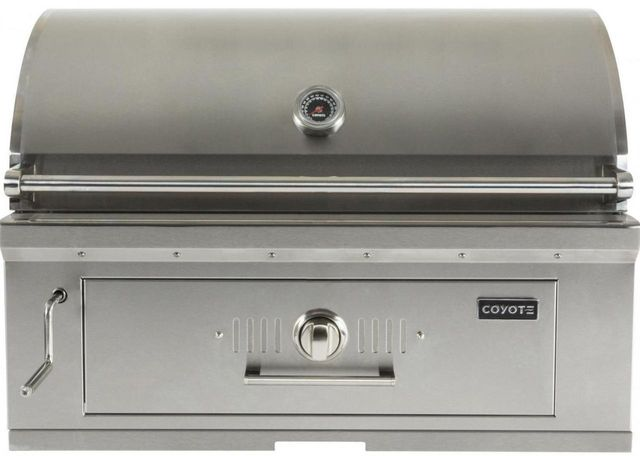 """Coyote Outdoor Living 36"""" Built In Charcoal Grill-Stainless Steel-C1CH36"""