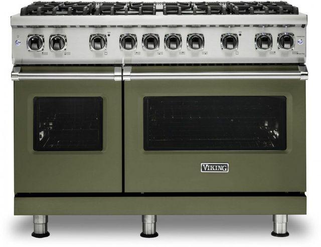 "Viking® 5 Series 48"" Cypress Green Pro Style Liquid Propane Gas Range-VGR5488BCYLP"