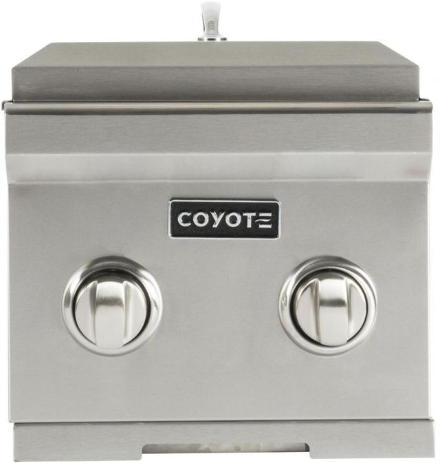 Coyote Outdoor Living Double Slide In Side Burner-Stainless Steel-C1DBNG