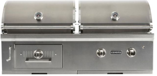 """Coyote Outdoor Living Hybrid 50"""" Built In Charcoal And Gas Grill-Stainless Steel-C1HY50NG"""