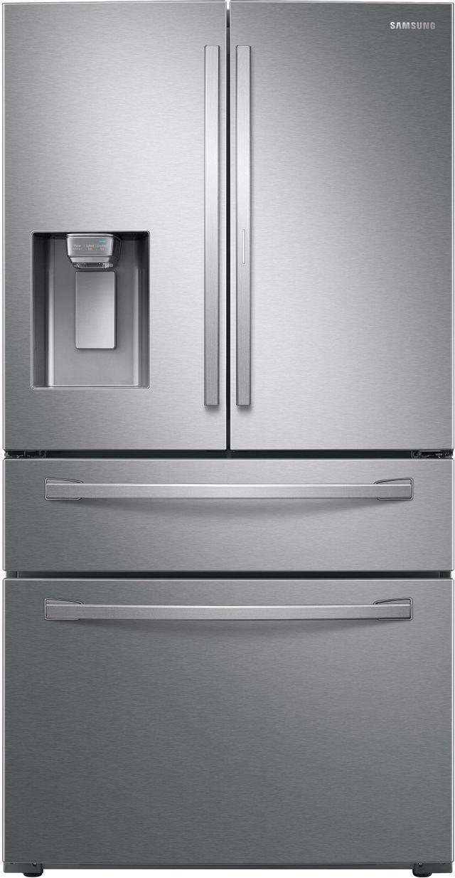 Samsung 22.4 Cu. Ft. Fingerprint Resistant Stainless Steel Counter Depth French Door Refrigerator-RF22R7351SR-25-0825