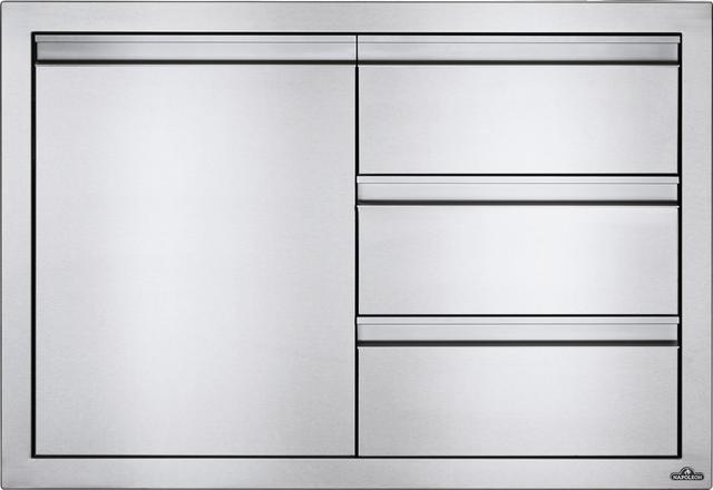 Combinaisons de portes et de tiroirs pour l'extérieur Napoleon® - Acier inoxydable-BI-3624-1D3DR