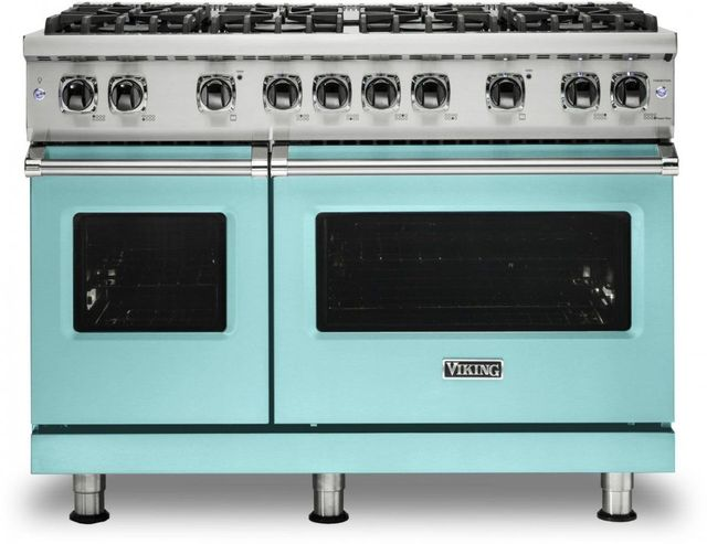 "Viking® 5 Series 48"" Bywater Blue Pro Style Liquid Propane Gas Range-VGR5488BBWLP"