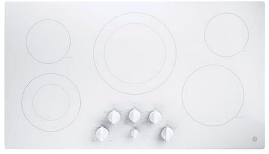 """GE® 36"""" Electric Cooktop-White-JP3536TJWW"""
