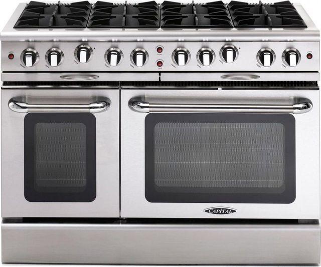 "Capital Culinarian 48"" Stainless Steel Free Standing Gas Range-MCOR488N"