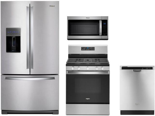 Whirlpool® 4 Piece Stainless Steel Kitchen Package-WHKITWRF767SDHZ