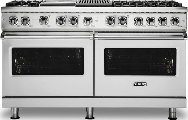 """Viking® Professional 5 Series 60"""" Pro Style Dual Fuel Range-Stainless Steel-VDR5606GQSS"""