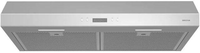 """Broan® Glacier BCDJ1 Series 30"""" Under Cabinet Range Hood-Stainless Steel-BCDJ130SS"""