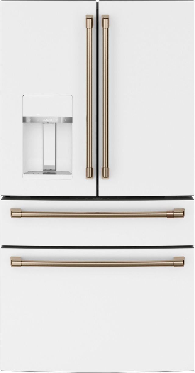 Réfrigérateur à portes françaises de 36 po Cafe™ de 27,6 pi³ - Blanc mat-CVE28DP4NW2