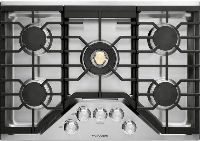 """Monogram® 30"""" Deep-Recessed Gas Cooktop-Stainless Steel-ZGU30RSLSS"""
