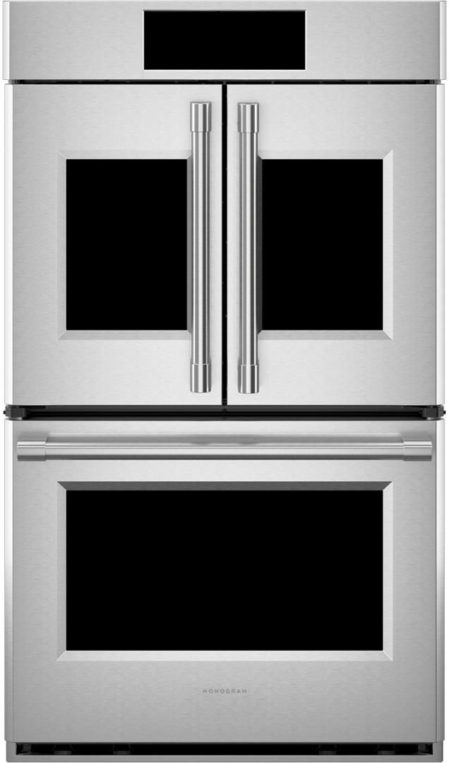 """Monogram® Statement Collection 29.75"""" Stainless Steel Electric Double Oven Built In-ZTDX1FPSNSS"""