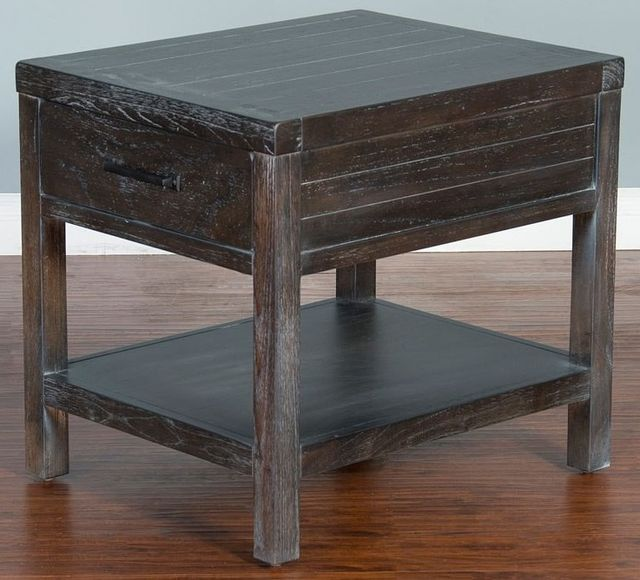 Sunny Designs Dundee Kettle Black End Table-3271KB-E