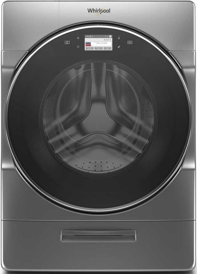 Whirlpool® 5.0 Cu. Ft. Chrome Shadow Front Load Washer-WFW9620HC