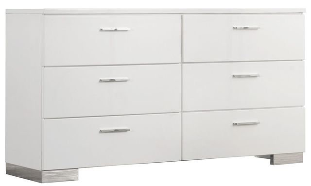 Coaster® Felicity Glossy White Dresser-203503