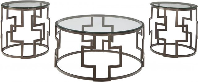 Signature Design by Ashley® Frostine Dark Bronze Finish Occasional Table Set-T138-13