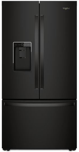 Whirlpool® 24 Cu. Ft. Counter Depth French Door Refrigerator-Black-WRF954CIHB