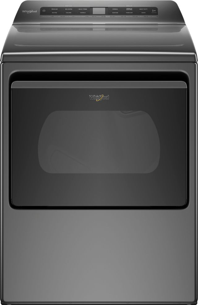 Whirlpool® 7.4 Cu. Ft. Chrome Shadow Front Load Electric Dryer-WED6120HC