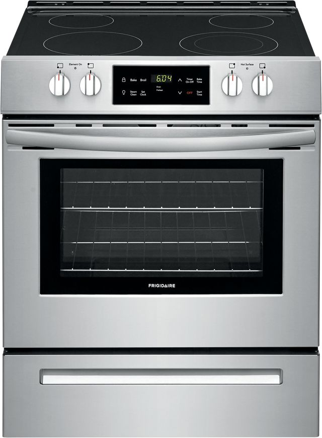 """Frigidaire® 30"""" Stainless Steel Free Standing Electric Range-FFEH3051VS"""