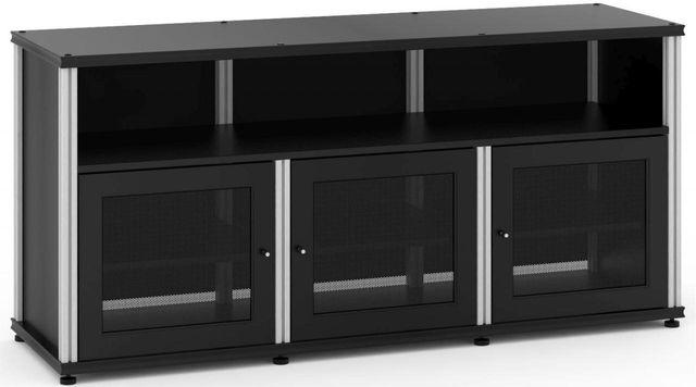 Salamander Designs® Synergy Model 339 AV Cabinet-Black/Aluminum-SB339B/A