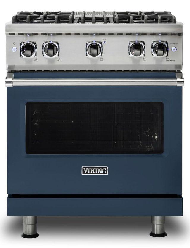 "Viking® 5 Series 30"" Slate Blue Pro Style Liquid Propane Gas Range-VGR5304BSBLP"