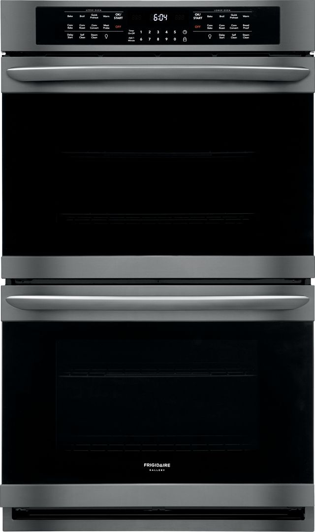 """Frigidaire Gallery® 30"""" Black Stainless Steel Electric Double Oven Built In-FGET3066UD"""