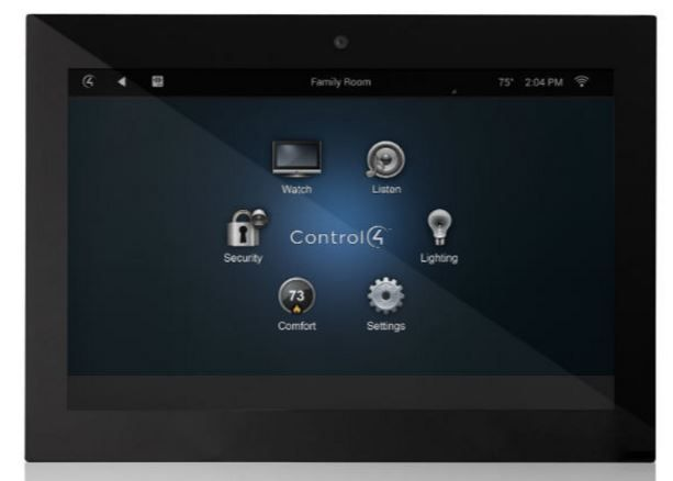 """Control4® T3 Series 7"""" In-Wall Touch Screen-Black-C4-WALL7-1-BL"""