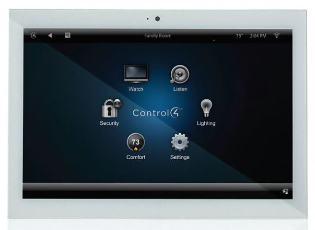 """Control4® T3 Series 7"""" In-Wall Touch Screen-White-C4-WALL7-1-WH"""