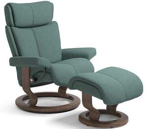 Stressless® by Ekornes® Magic Medium Classic Base Chair and Ottoman-1144015