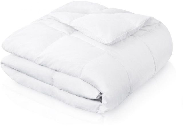 Malouf® Sleep Woven™ White Twin Down Blend Comforter-MA25TT20DDCO