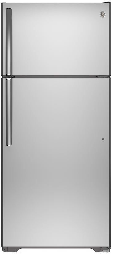 GE® 21.2 Cu. Ft. Top Freezer Refrigerator-Stainless Steel-GIE21GSHSS