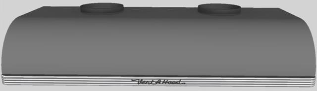 "Vent-A-Hood® 48""  Retro Style Under Cabinet Range Hood-Gunsmoke-CLH9-448 GS"
