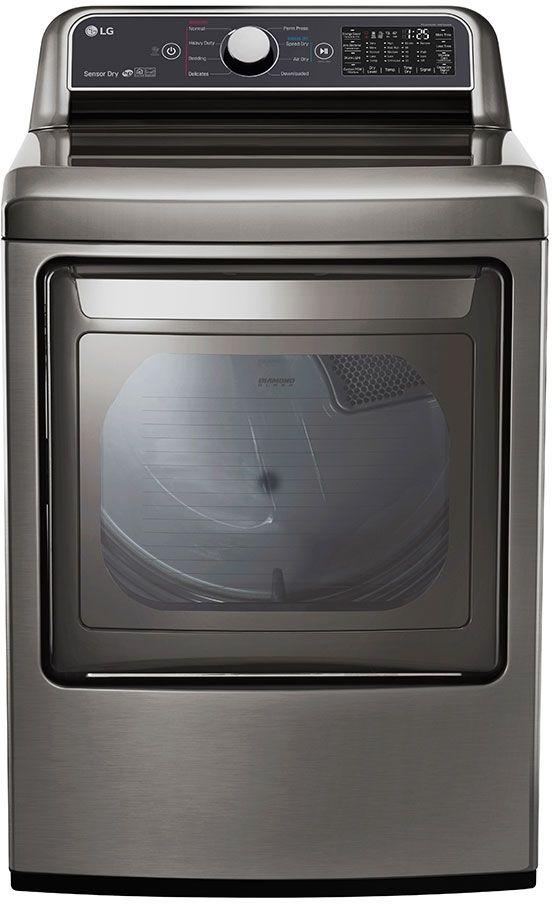 LG 7.3 Cu. Ft. Graphite Steel Front Load Gas Dryer-DLG7301VE