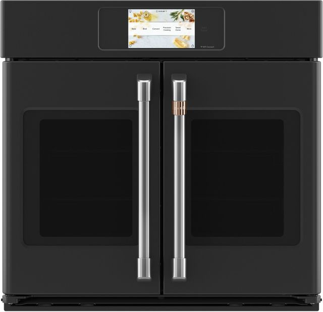 """Café™ Professional Series 29.75"""" Matte Black Smart Built In Convection French Door Single Wall Oven-CTS90FP3ND1"""