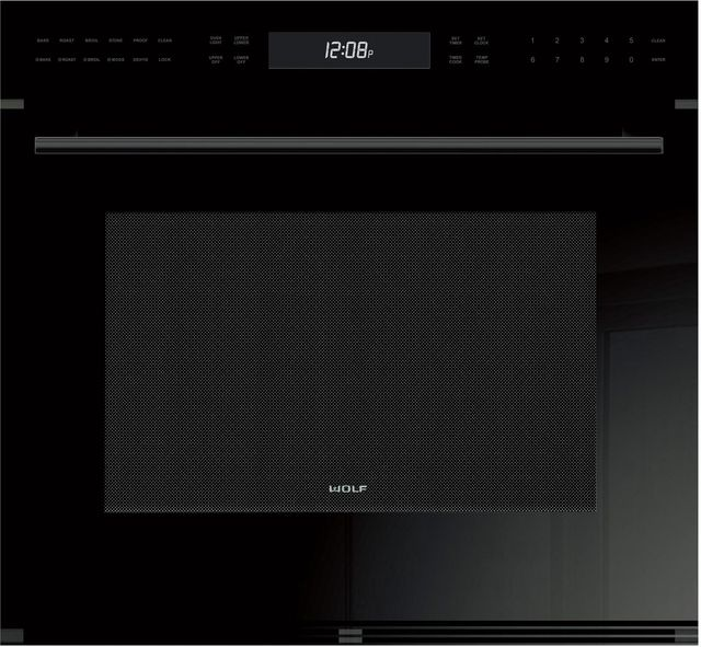 """Wolf® E Series 30"""" Electric Single Oven Built In-Black-SO30CE/B/TH"""
