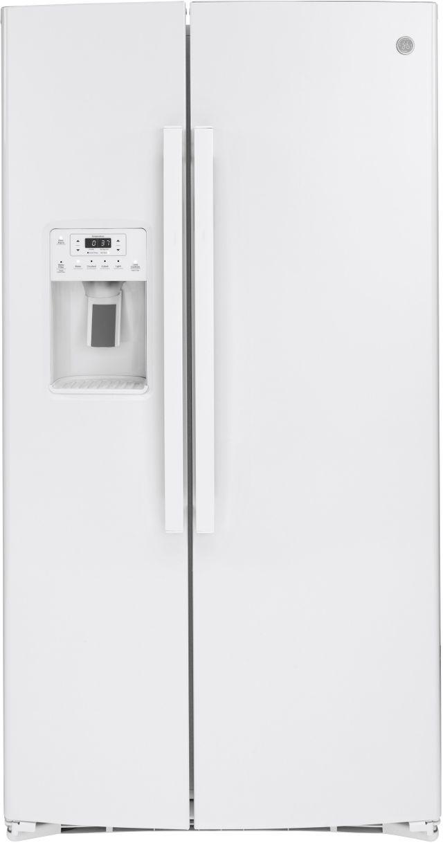 Réfrigérateur côte-à-côte de 36 po GE® de 25,1 pi³ - Blanc-GSS25IGNWW