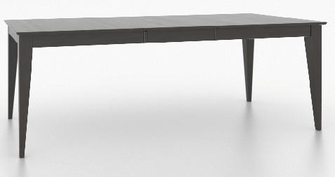 Table rectangulaire rectangulaire Core, gris, Canadel®-TRE038685959MPGC1