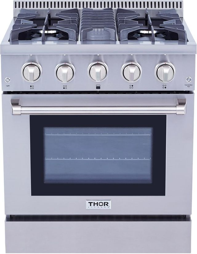 """Thor Kitchen® 30"""" Stainless Steel Pro Style Dual Fuel Range-HRD3088U"""