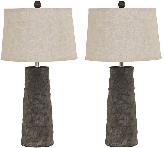 Signature Design by Ashley® Sinda Set of 2 Gray Poly Table Lamps-L328984
