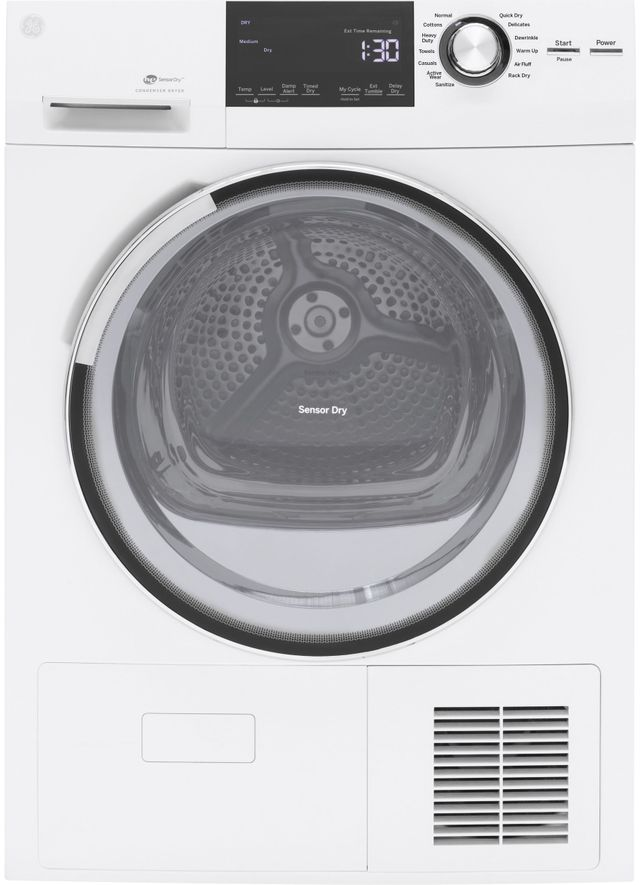 GE® Front Load Electric Dryer-White-GFT14ESSMWW