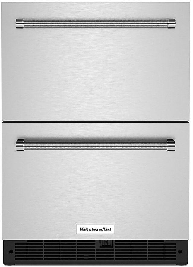 KitchenAid® 4.44 Cu. Ft. Stainless Steel Double Refrigerator Drawers-KUDR204KSB