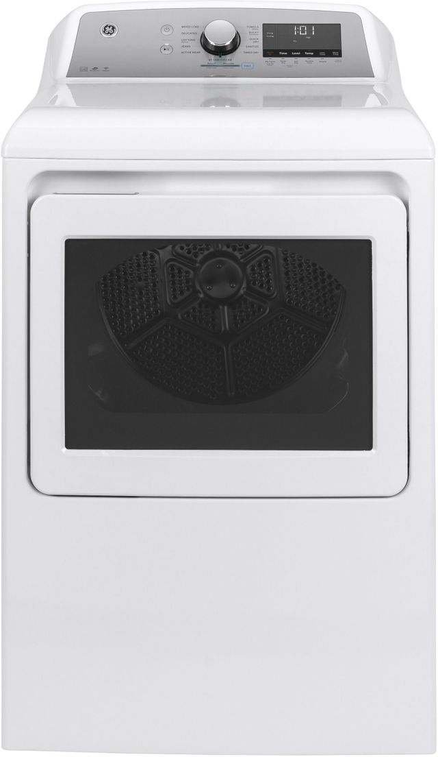 GE® 7.4 Cu. Ft. White Front Load Electric Dryer-GTD84ECSNWS