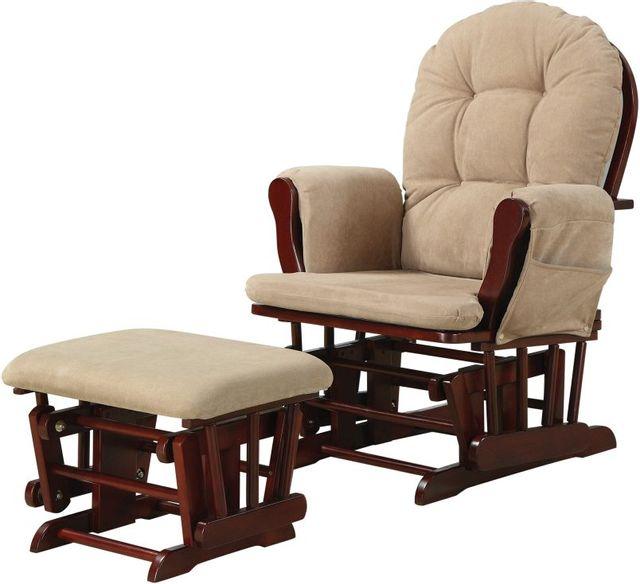 Coaster® 2 Piece Tan Glider Rocker Set-650010