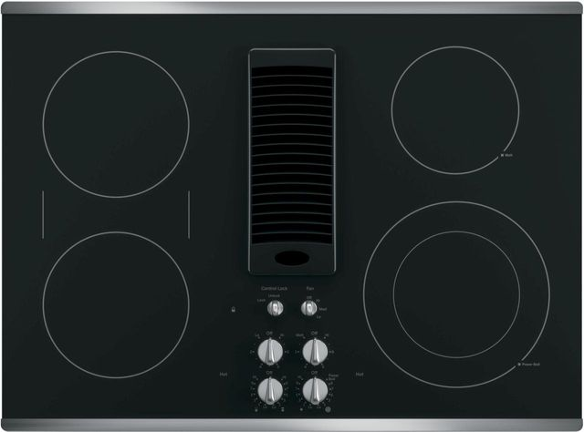 """GE Profile™ Series 30"""" Stainless Steel Electric Cooktop-PP9830SJSS"""
