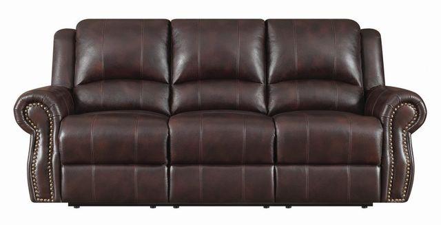 Coaster® Sir Rawlinson Dark Brown Reclining Sofa-650161