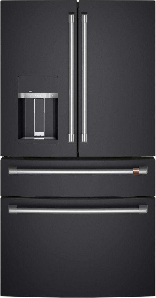 Café™ 27.56 Cu. Ft. Matte Black 4-Door French Door Refrigerator-CVE28DP3ND1