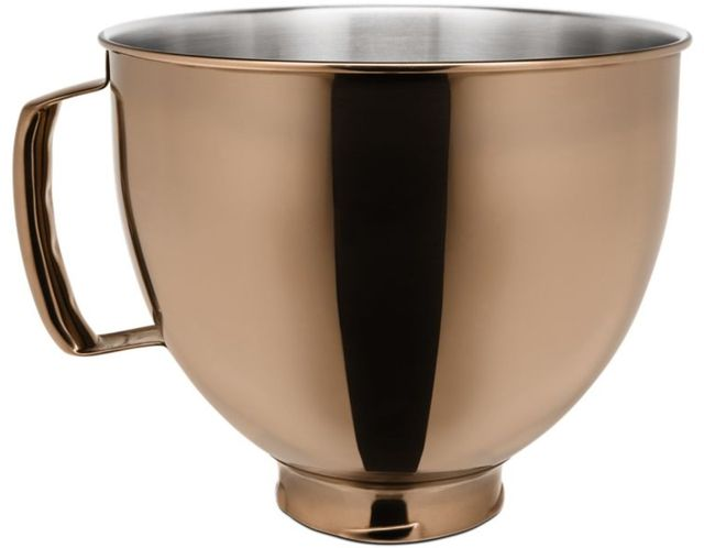 KitchenAid® Radiant Copper 5 Quart Metallic Finish Stainless Steel Bowl-KSM5SSBRC