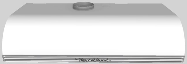 """Vent-A-Hood® 42""""  Retro Style Under Cabinet Range Hood-White-CLH9-142 WH"""