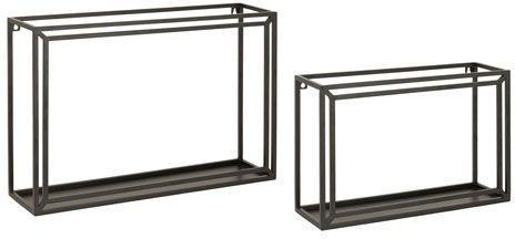 Signature Design by Ashley® Ehren Set of 2 Black Wall Shelves-A8010117