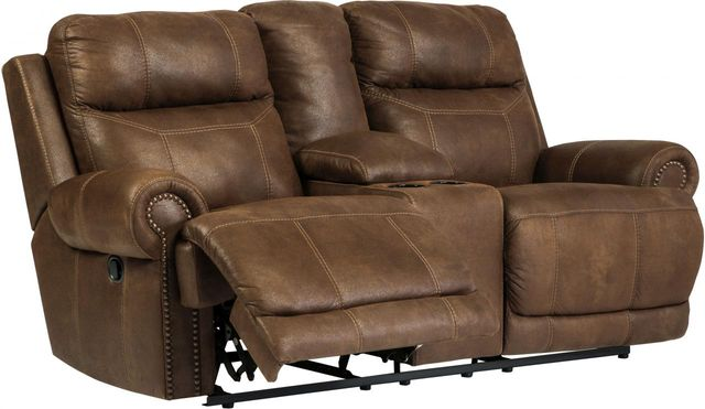 Signature Design by Ashley® Austere Brown Double Reclining Loveseat-3840094